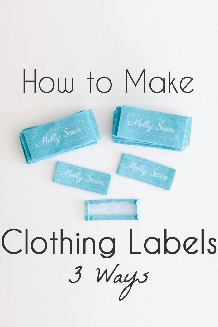 How to make clothing tags 3 options melly sews for How to sew labels on clothes