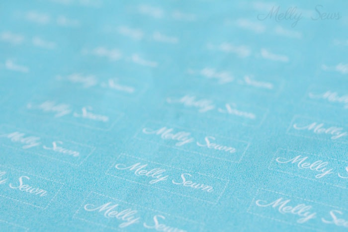 Print Your Own Fabric - How to Make Clothing Labels - 3 Ways to Make Clothing Tags for Your Handmade Items - Melly Sews