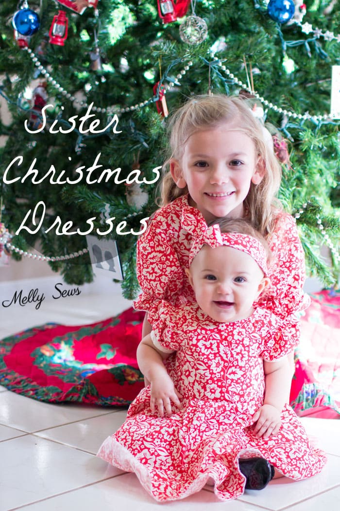sew matching christmas dresses for sisters melly sews