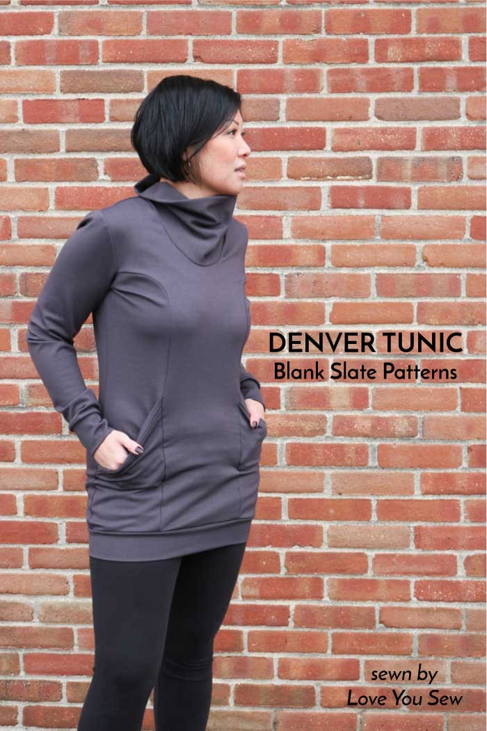 Denver Tunic sewing pattern from Blank Slate Patterns sewn by Love You Sew