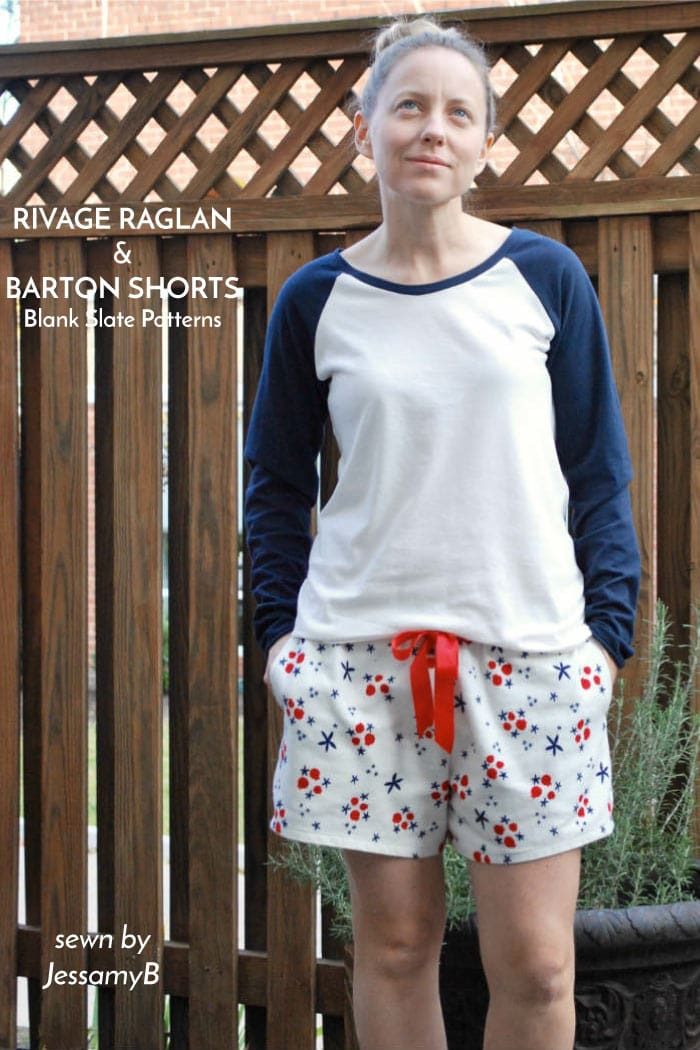Rivage Raglan and Barton Shorts Blank Slate Sewing Patterns sewn by JessamyB