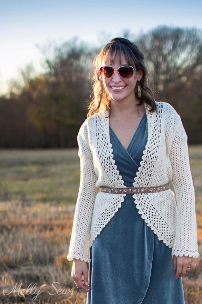 Bohemian velvet dress - 2 Ways to style a stretch velvet dress - handmade by Melly Sews