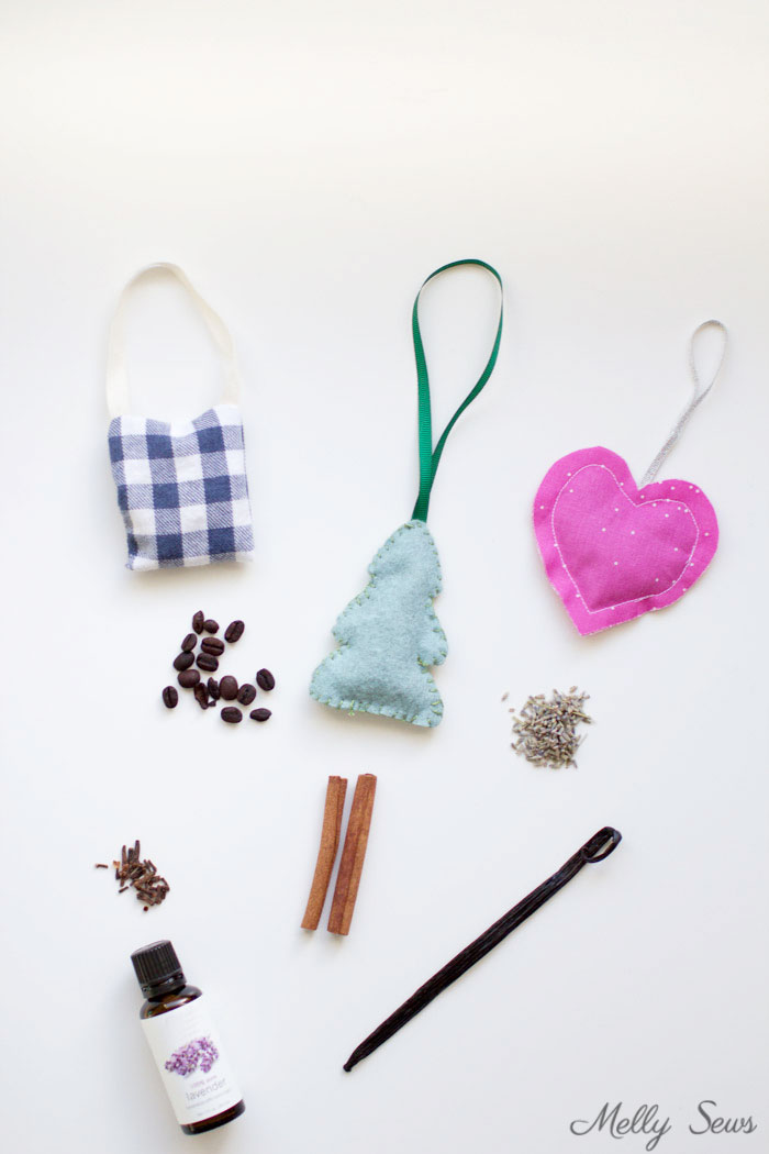 DIY Natural Air Fresheners - Make these Car Air Fresheners using natural ingredients - tutorial by Melly Sews