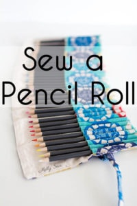 Sew a Pencil Roll - DIY Crayon Roll - Tutorial by Melly Sews
