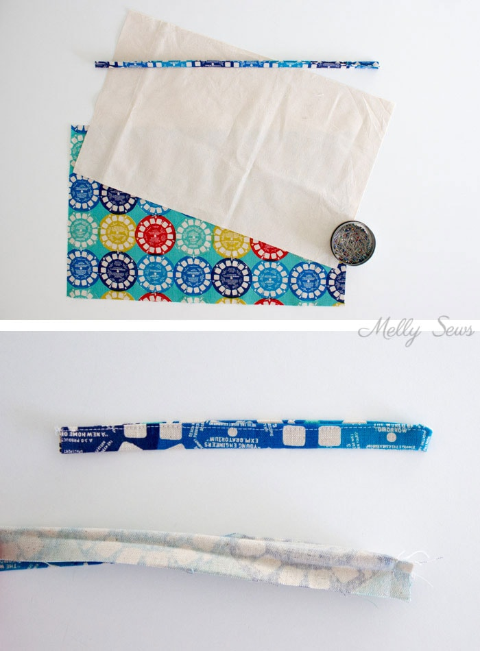 Step 1 - Sew a Pencil Roll - DIY Crayon Roll - Tutorial by Melly Sews