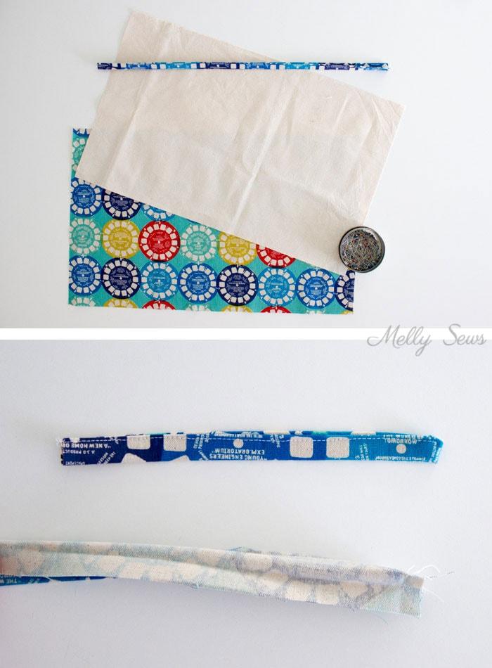Step 1 - Sew a Pencil Roll - DIY Crayon Roll - Tutorial by Melly Sews