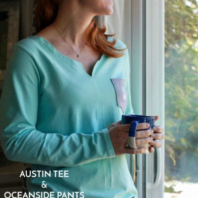 Austin Tee and Oceanside Pants with Simple.Blessed