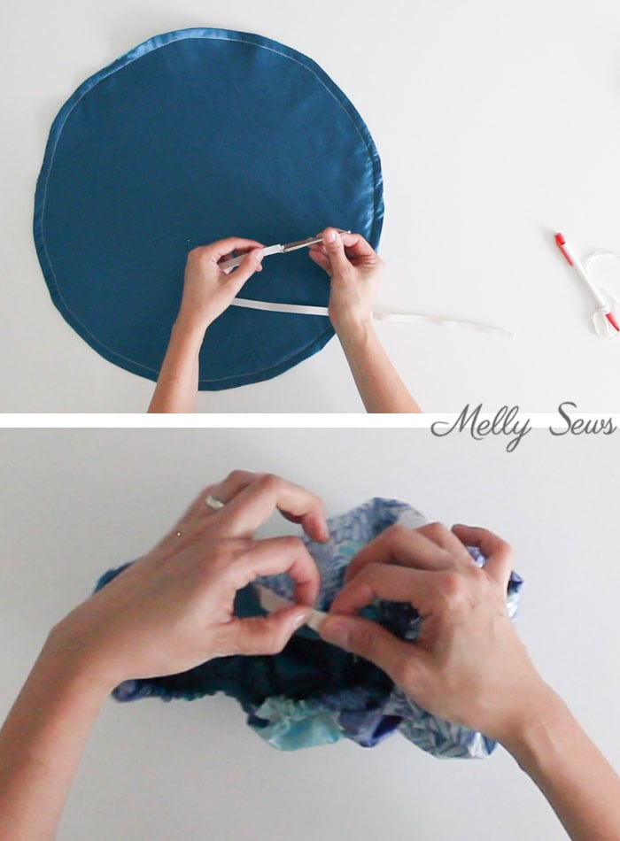 Step 3 - How to Sew a Shower Cap - DIY Shower Cap with Video & Tutorial by Melly Sews