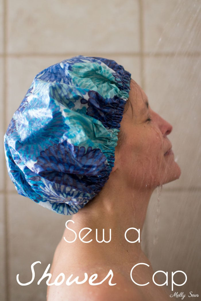 How to Sew a Shower Cap - DIY Shower Cap with Video & Tutorial by Melly Sews