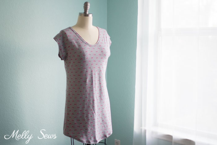 Sew a Sleep Shirt - With Free Pattern - Melly Sews