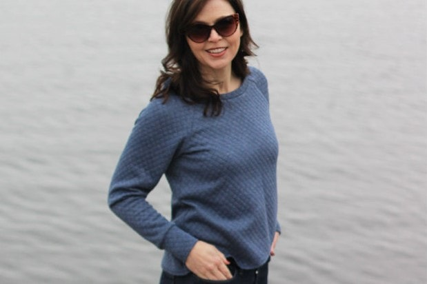 Tulip Top sewing pattern by Blank Slate Patterns sewn by Margo Bergman of Creating In The Gap