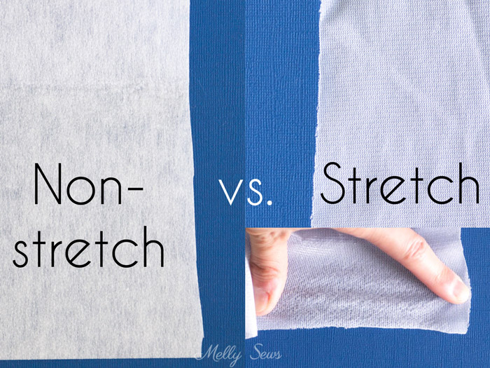 Non-stretch vs Stretch Interfacing - All About Interfacing for Sewing Clothes - Types of Interfacing, Differences, and when to use each - Melly Sews