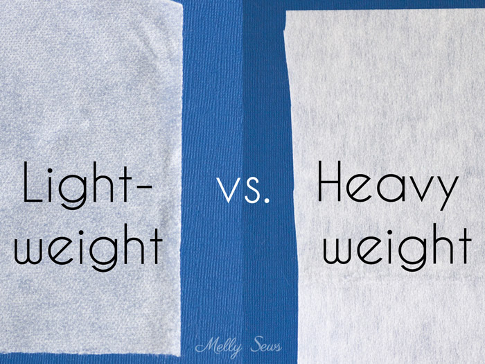 Lightweight vs Heavy Weight Interfacing - All About Interfacing for Sewing Clothes - Types of Interfacing, Differences, and when to use each - Melly Sews