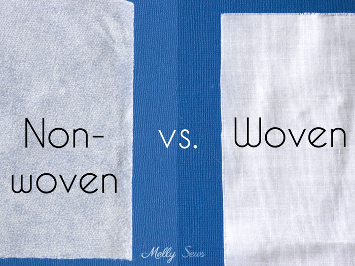 Non-woven vs woven interfacing - All About Interfacing for Sewing Clothes - Types of Interfacing, Differences, and when to use each - Melly Sews
