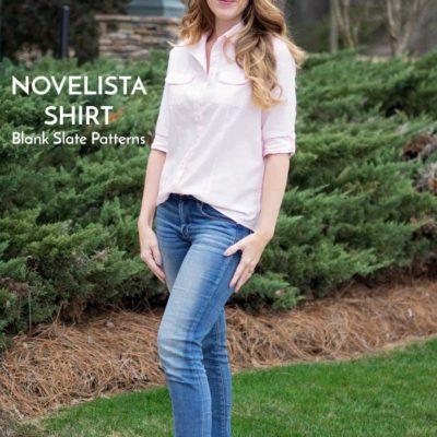 Novelista Shirt with Crystal Thoreson