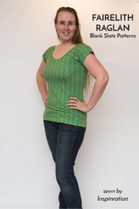 Fairelith Raglan Top sewing pattern for knits from Blank Slate Patterns | sewn by Inspinration