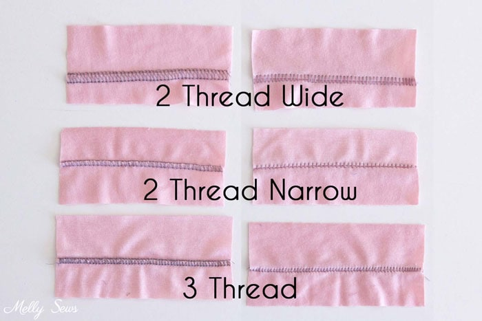 Types of Flatlock Stitches - How to Sew a Flatlock Stitch on your Serger or Overlocker - Flatlock Hem with Serger - Melly Sews
