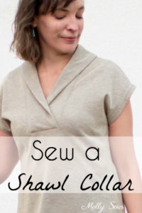 How to Sew a Shawl Collar