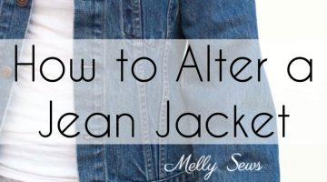 Altering a Jean Jacket