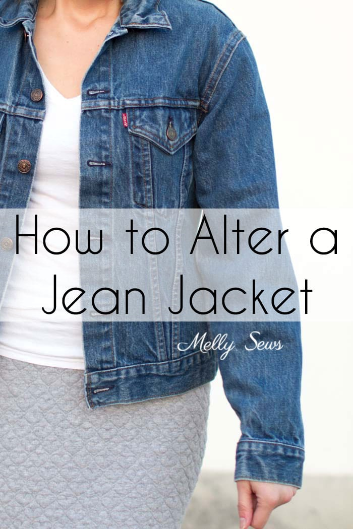 How to Alter a Jean Jacket - Sew a Denim Jacket - Melly Sews
