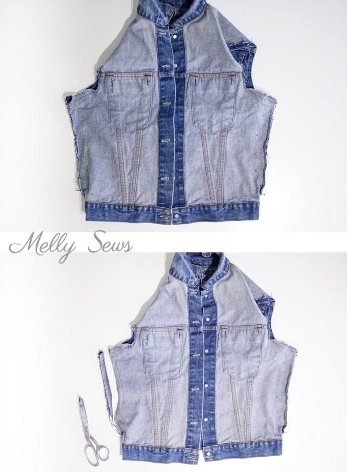 Step 1 - How to Alter a Jean Jacket - Sew a Denim Jacket - Melly Sews