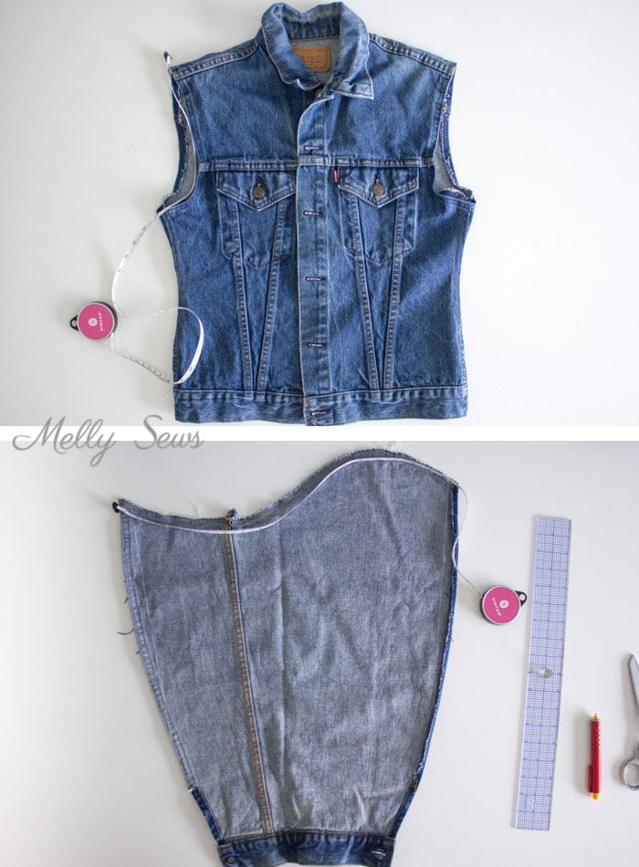 Step 2 - How to Alter a Jean Jacket - Sew a Denim Jacket - Melly Sews