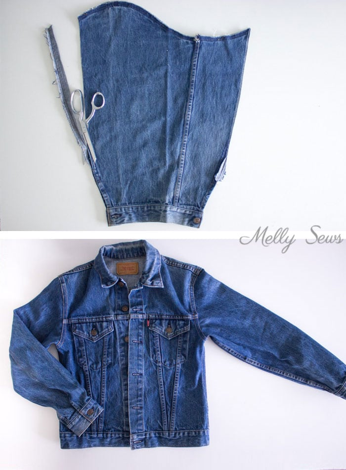 Step 3 - How to Alter a Jean Jacket - Sew a Denim Jacket - Melly Sews