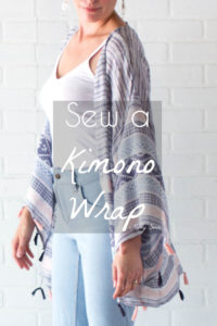 DIY Kimono Wrap - Sew a Swim Cover From Scarves - Video Tutorial by Melly Sews