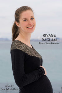 Rivage Raglan sewing pattern from Blank Slate Patterns sewn by Sew Mariefleur