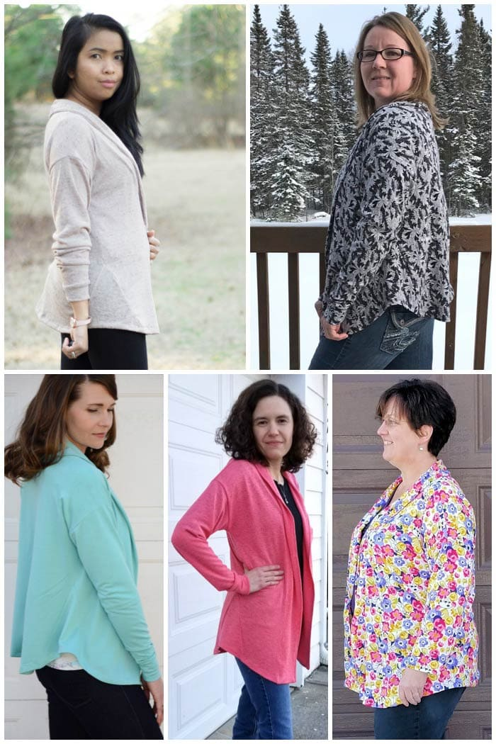 Sora Sweater cardigan and pullover sewing pattern from Blank Slate Patterns