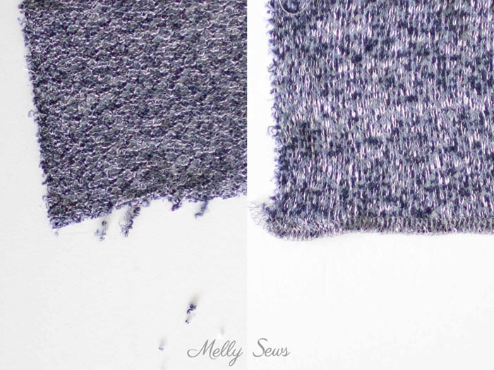 Tip - Serge or Faux Overlock Sweater Knit Edges - 5 Tips for Sewing with Sweater Knits - How to Sew Sweater Knits - Melly Sews