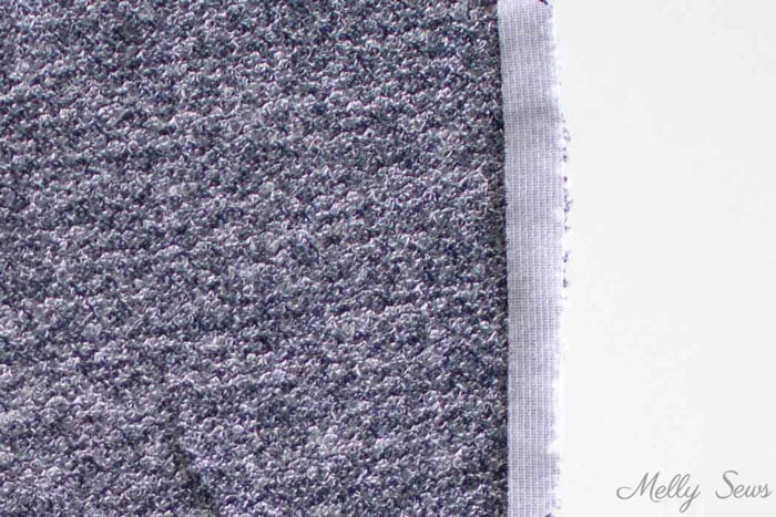Use interfacing to support sweater knits - 5 Tip for Sewing with Sweater Knits - How to Sew Sweater Knits - Melly Sews