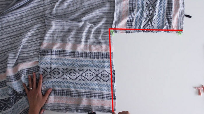 Step 6 - DIY Kimono-Style Wrap - Sew a Swim Cover From Scarves - Video Tutorial by Melly Sews
