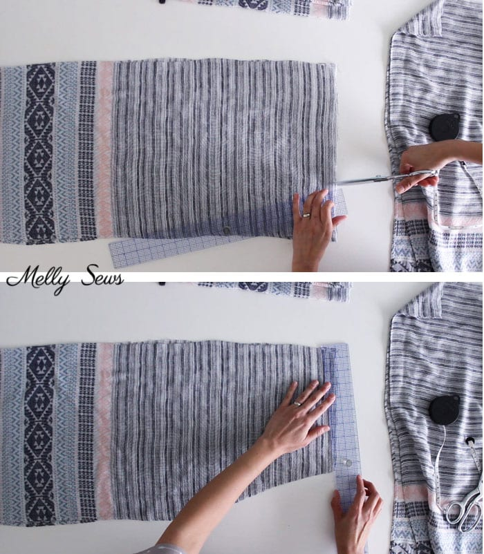 Step 3 - DIY Kimono Wrap - Sew a Swim Cover From Scarves - Video Tutorial by Melly Sews