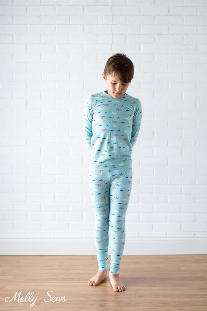 Boys airplane pajamas - Airplane Knits by Melissa Mora for Riley Blake Designs