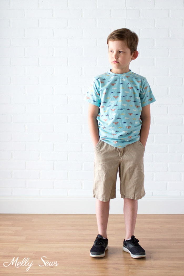Airplane t-shirt - Airplane Knits by Melissa Mora for Riley Blake Designs