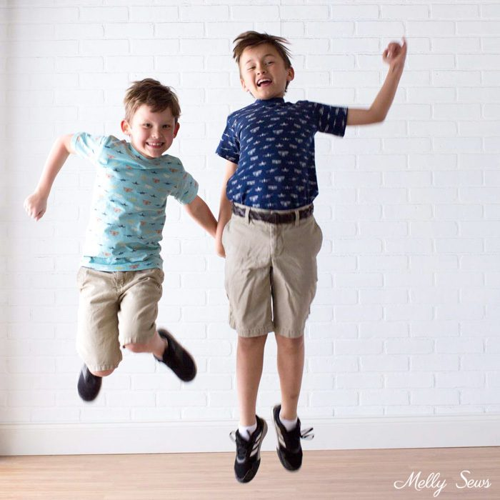 Jumping Boys - Airplane Knits by Melissa Mora for Riley Blake Designs