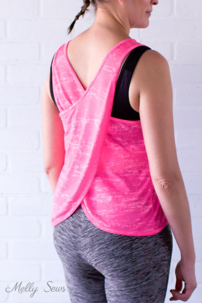 Learn to Sew a Crossback Workout Tank Make your own DIY workout gear with this tutorial for a crossback tank. - Melly Sews