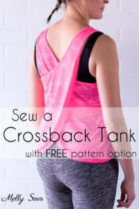 Crossback Workout Tank with Free Pattern and Video