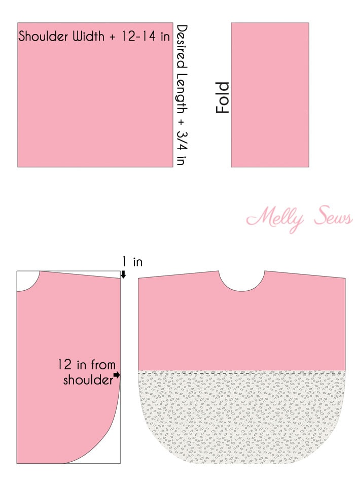 Step 1 - Lace and knit hooded circle top - so cute and easy to sew with a free hood pattern from Melly Sews