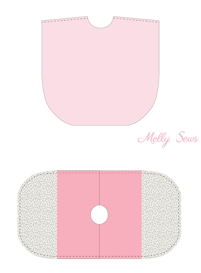 Step 2 - Lace and knit hooded circle top - so cute and easy to sew with a free hood pattern from Melly Sews
