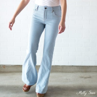 Sew Flared Jeans
