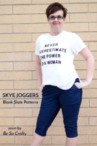 Skye Joggers sewing pattern from Blank Slate Patterns sewn by Be So Crafty