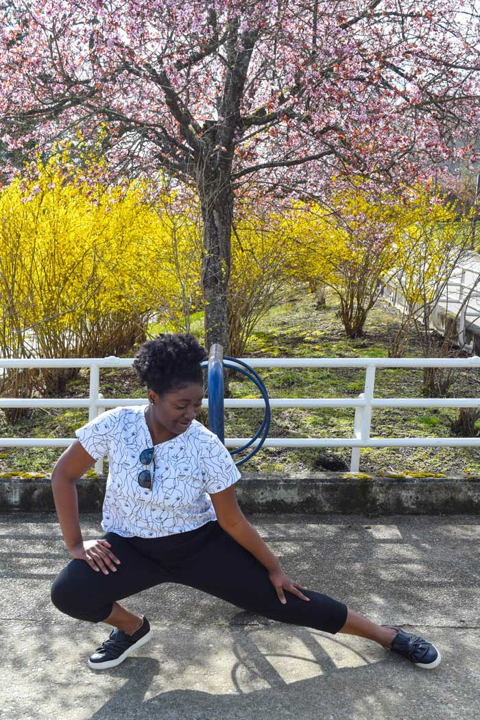 Skye Joggers and Shoreline Boatneck sewing patterns from Blank Slate Patterns sewn by The Ravel Out