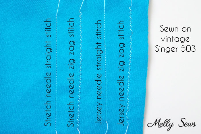 Spandex sewn on a vintage machine - Learn to sew spandex - sewing lycra or elastane tips and tricks - Melly Sews