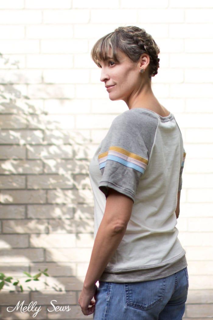 Striped Raglan - How to Add Stripes to Clothes - Sew Stripes - Melly Sews