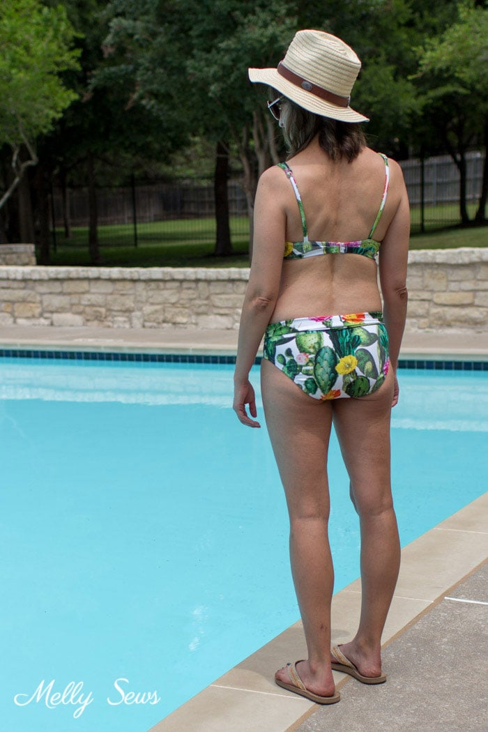 Sew a Bikini Bottom - Tutorial to make a DIY swimsuit - use a free panties pattern to make a bathing suit - Melly Sews