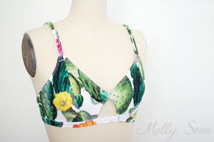 I think I could do this - Use a free bra pattern to sew a bikini top - DIY bikini top you can make yourself with this video tutorial.