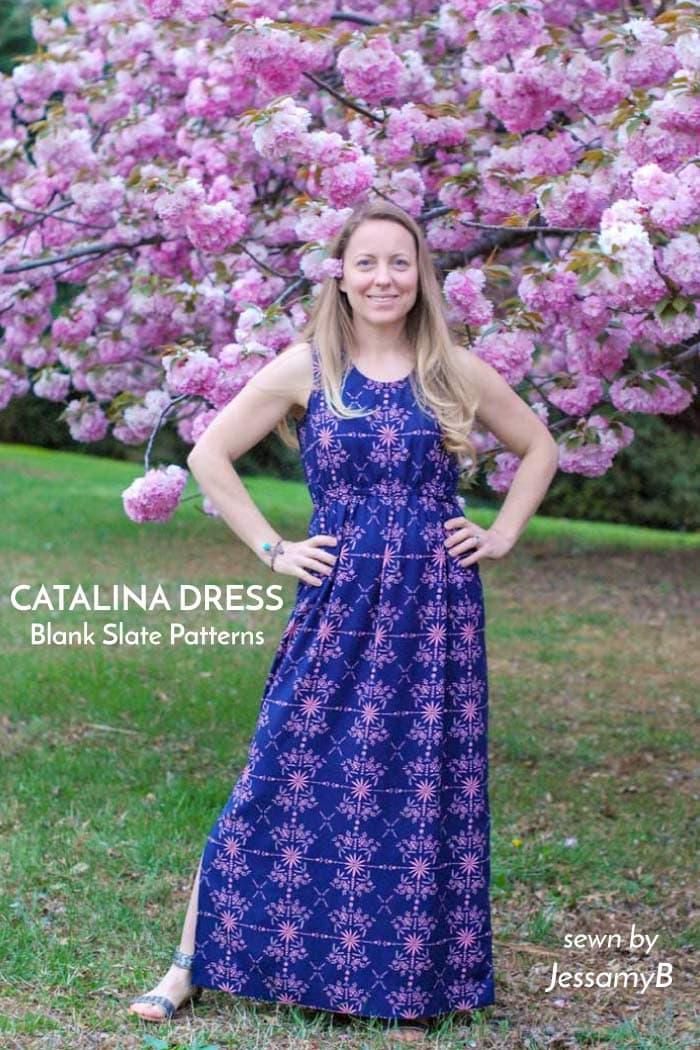Catalina Dress sewing pattern from Blank Slate Patterns sewn by JessamyB