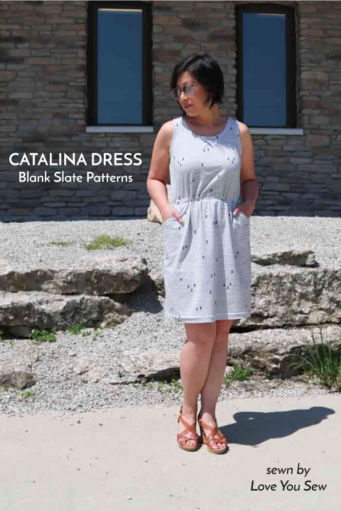 Blank Slate Patterns Catalina Dress by Love You Sew